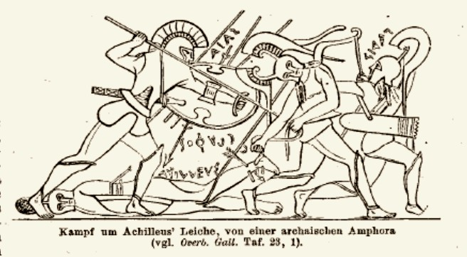Fight over Achilles body