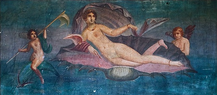 Venus on a shell from Pompeii