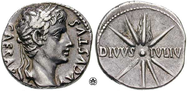 Caesar coin with comet