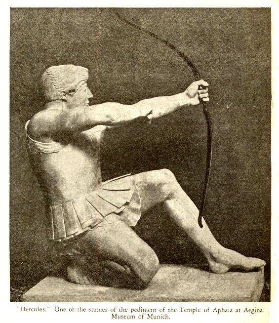 Herakles draws bow
