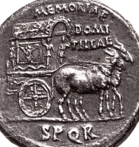 Mule cart on coin