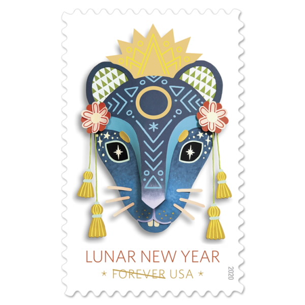 Rat postage stamp