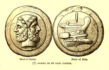 Roman one-as coin