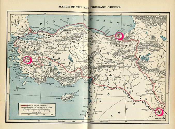 Map of the Anabasis