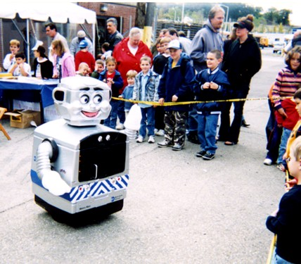 MTA robot and children