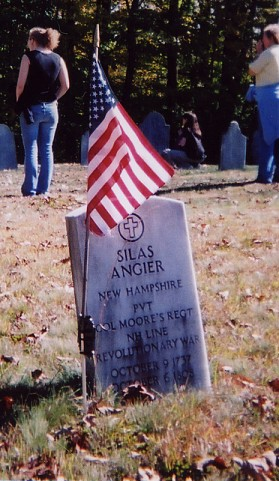 Silas Angier grave